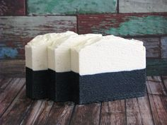 The elegant simplicity of black & white. Sea Salt and Charcoal Soap Detox Soap Salt by ArtisanBathandBody, $7.00