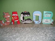 Disney Pixar CARS Themed Letter Art by GunnersNook on Etsy