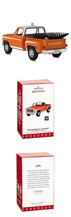 Hallmark Christmas Plates. Hallmark Keepsake 2017 All-American Trucks 1976 Chevrolet C-10 Sport Dated Christmas Ornament.  #hallmark #christmas #plates #hallmarkchristmas #christmasplates