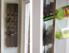 This wine rack was made from an old fence. I wish I had an old fence so i could make this wine rack.