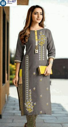 Neck Designs For Suits, Blouse Back Neck Designs, Kurta Designs Women, Blouse Neck Designs, Designs For Dresses, Simple Embroidery Designs, Simple Kurti Designs, Kurti Embroidery Design, Half Saree Designs