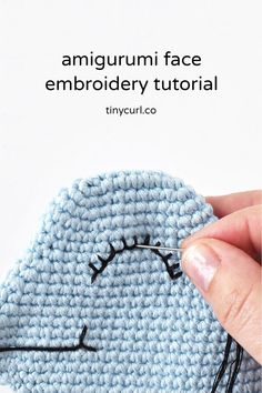 Face embroidery for your crochet dolls is a great way to give them lots of personality. Nothing beats the cuteness of a uniquely embroidered face. This tutorial has the best tips for perfecting your embroidered amigurumi faces! Tutorial Amigurumi, Crochet Patterns Amigurumi, Crochet Stitches, Crochet Crafts, Crochet Projects, Free Crochet, Knit Crochet, Crochet Birds, Crochet Food