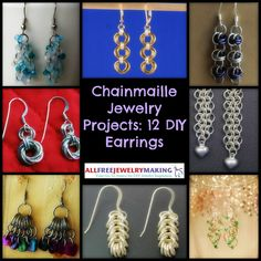 Chainmaille Jewelry Projects: 12 DIY Earrings | AllFreeJewelryMaking.com