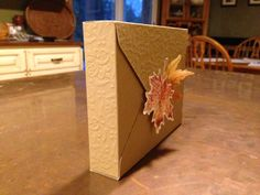 Box made for note cards. Made with We R Memory Keepers Envelope Punch Board. 2013.