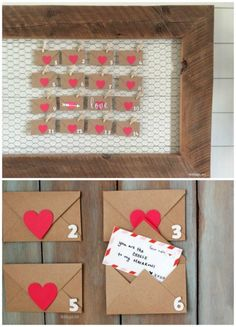 Make a fun Valentine's Day Countdown and Valentine Home Decor Ideas on Frugal Coupon Living.