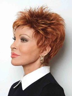 Power Wig by Raquel Welch - Short Petite Average Cap - The HeadShop Wigs Short Haircut Styles, Short Pixie Haircuts, Short Hairstyles For Women, Short Hair Cuts, Androgynous Haircut, Raquel Welch Wigs, Haircut For Thick Hair, Hair Color For Women, Shag Hairstyles