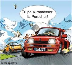Renault 5 Turbo vs Porsche!!