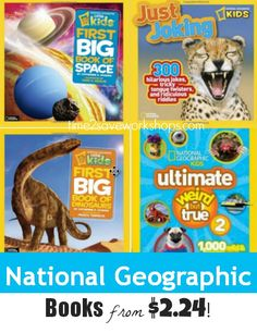 National Geographic Kids Books from $2.24!  The kids love picking these up and leafing through them whenever they have a little extra time on their hands.