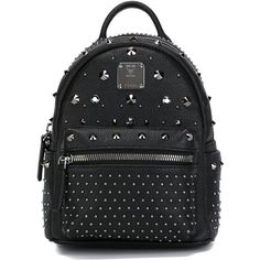 MCM X-Mini Bebe Boo Backpack (2 015 AUD) ❤ liked on Polyvore featuring bags, backpacks, black, black bag, mcm backpack, mcm bags, miniature backpack and backpacks bags