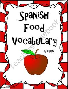 FREE Spanish Food PICTURE Notes SET product from Spanish the easy way! on TeachersNotebook.com