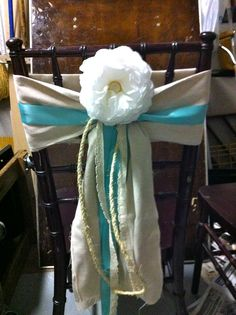 DIY chair cover (Peony made from coffee filters)