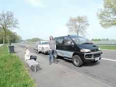 Towing the GTA race car to Nurburgring