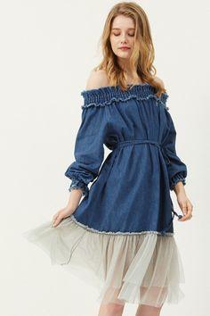 Emile Lace Hem Dress Discover the latest fashion trends online at storets.com