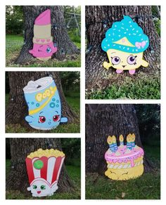Fun decorations at a Shopkins birthday party! See more party ideas at CatchMyParty.com!