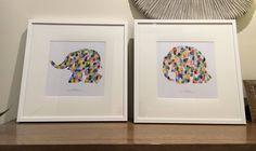 Grade Prep auction art 2016. Elmer - a fingerprint elephant by Donna Campbell.