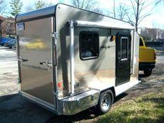 Ideas enclosed motorcycle trailer ideas toy hauler for 2019 Enclosed Motorcycle Trailer, Enclosed Trailer Camper, Cargo Trailer Camper, Tiny Camper, Cargo Trailers, Travel Trailers, Tiny Trailers, Utility Trailer, Rv Travel