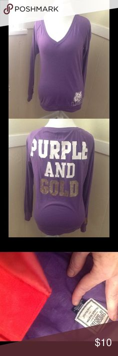 Victoria's Secret shirt purple Victoria's Secret shirt purple Victoria's Secret Tops Tees - Long Sleeve