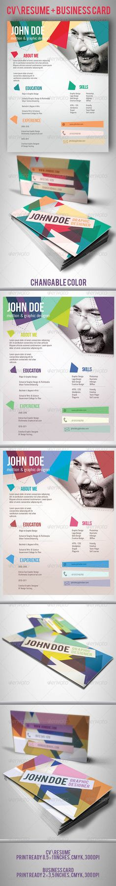 3 Page Business Resume with 3 Color Combinations Business resume - resume for business
