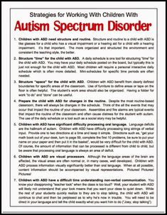 Free Handout for Understanding Autism - Classroom Freebies. (Are we ALL visual processors? Well, I am on Pintrest. Autism Education, Adhd And Autism, Children With Autism, Special Education, Autism Teaching, Teaching Biology, Helping Children, Autism Sensory, Autism Activities