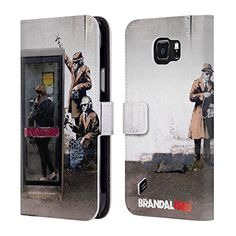 Official Brandalised Spy Booth Banksy Art Branded Graffiti Leather Book Wallet Case Cover For Samsung Galaxy S6 active -- Be sure to check out this awesome product.