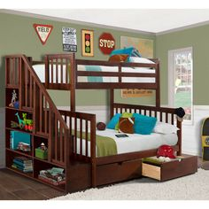 Austin Twin Over Full Staircase Bunk