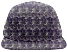 Crochet 64 Baseball Hat By mae-glenn $48.00  This original, abstract pattern in dusky purple was derived from crochet stitches.