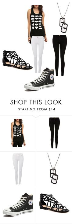 to the batcave by alexalivar on Polyvore featuring Current/Elliott, 7 For All Mankind, Converse, women's clothing, women's fashion, women, female, woman, misses and juniors