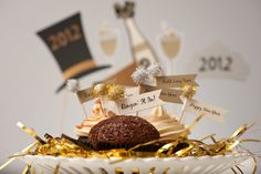cupcake toppers or appetizer picks for New Years Eve
