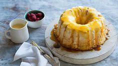 Caramel meringue with Cointreau and custard sauce (canonigo) recipe : SBS Food