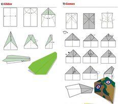 Papierflieger Glider Gomez
