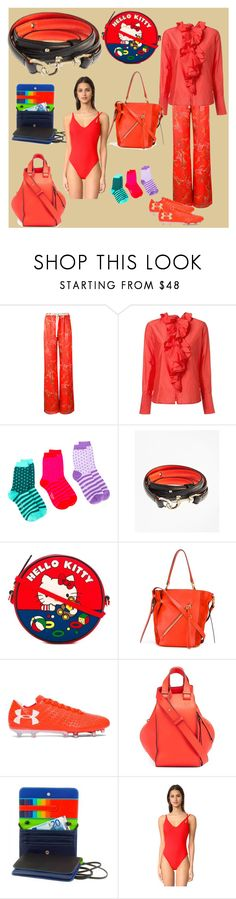 """the shade of red"" by denisee-denisee ❤ liked on Polyvore featuring Alexis, Tome, Paul Smith, Brooks Brothers, Olympia Le-Tan, Chloé, Under Armour, Loewe, mywalit and Araks"