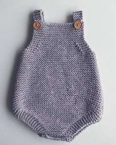 Free Knitting Pattern for Easy Baby Romper - Great beginner pattern. The Eve Rom. Free Knitting Pattern for Easy Baby Romper - Great beginner pattern. The Eve Romper is a baby playsuit carefully designe. Beginner Knitting Patterns, Knitting For Kids, Knitting For Beginners, Free Knitting, Baby Knitting, Crochet Baby, Knitting Projects, Free Crochet, Knitted Baby Clothes