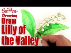 How to draw and paint Lily of the Valley - Spoken Tutorial - YouTube