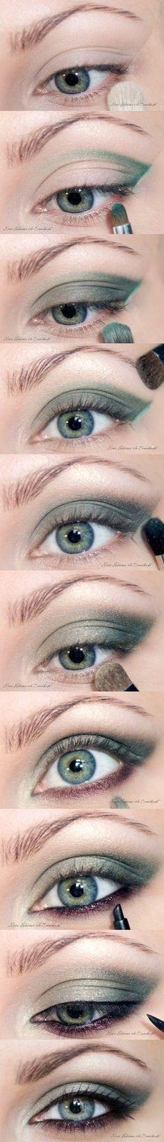 Emerald Smokey Eyes - Eye Make Up Tutoria                                                                                                                                                      More