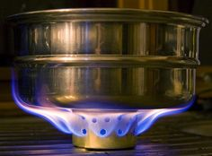 Super Cat mini alcohol stove, made from cat food can.