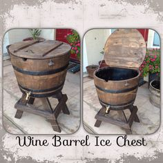 Wine barrel ice chest. Mike Morris Woodworking & Design