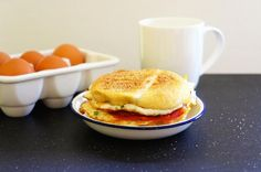 """Everyone loves a quick and good breakfast. Needless to say, it's the most important meal to start your day. My family loves this """"5 Minute Breakfast Sandwich"""""""