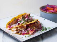 Fish Tacos with Mango-Cabbage Slaw