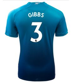 Adult #3 GIBBS Arsenal Away Blue Soccer Jersey 2017/18 Arsenal Jersey, Gabriel, Soccer, Sports, Blue, Shopping, Fashion, Hs Sports, Moda