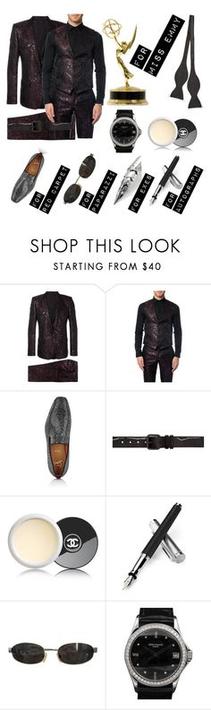 """""""For Miss Emmy"""" by lizbeigle ❤ liked on Polyvore featuring Dolce&Gabbana, Christian Louboutin, Haider Ackermann, Chanel, Aspinal of London, Tom Ford, Patek Philippe, Ted Baker, men's fashion and menswear"""