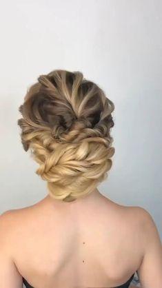 Cool Braid Hairstyles, Funky Hairstyles, Elegant Hairstyles, Braided Hairstyles, Wedding Hairstyles, Long Bridal Hair, Bridal Hair Updo, Front Hair Styles, Hair Styler
