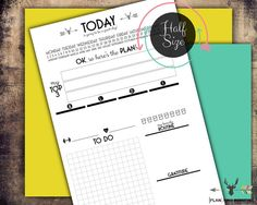 Half Size Daily Planner Printable / 8.5 x 5.5 / Day Planner Pages / Planner…