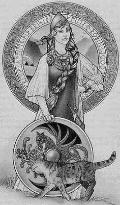 Freya Areas of Influence: Freya was the Norse Goddess of love, beauty, fertility, war, wealth, di...