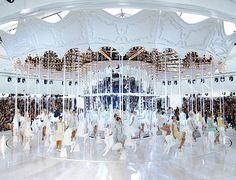 Fantasy – louis vuitton spring 2012 runway show, carousel, pastels, lace