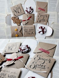 DIY - Cookie Envelope Template (3 Designs) - Free PDF Printable Great for adding to Christmas cards!