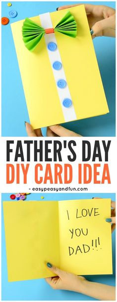 Bow-Tie Shirt Father's Day Card Idea! A sweet but simple card idea for preschoolers and kindergartners to make this Father's Day!