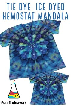 Ice Tie Dye, Tie Dyed, Dyeing Fabric, How To Dye Fabric, Tie Dye Tutorial, Diy Clothes Accessories, Ice Dyeing, Tie Dye Designs, Dye Shirt