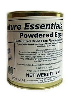 Future Essentials Canned Powdered Eggs 2.5 Can (8 oz) >>> You can find more details by visiting the image link.