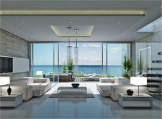 opera by askanis penthouses with private roofgarden with sea view for sale on the beach in penthousesliving room moderncondo - Modern Living Room Ideas