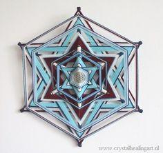 Mandala weaving:  Merkaba with flower of life( 19,3 inch) 6-zijdig!